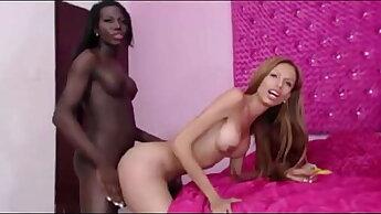 Trans lesbian interracial bareback anal - TScamdolls.com